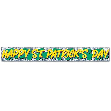 Beistle Metallic Happy St Patrick's Day Fringe Banner, 8