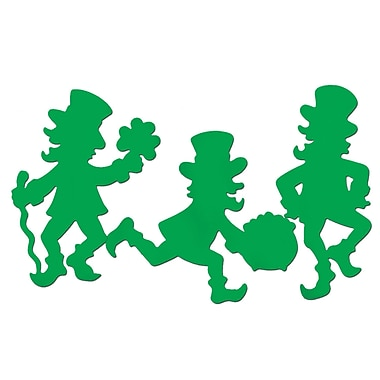 Beistle Packaged Leprechaun Silhouettes, 17