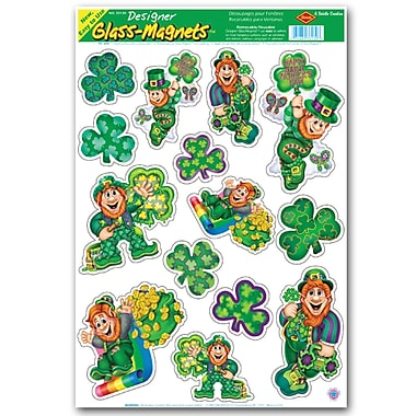 Beistle Leprechaun And Shamrock Clings, 12