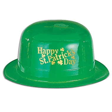 Beistle Plastic Happy St Patrick's Day! Derby, 7/Pack