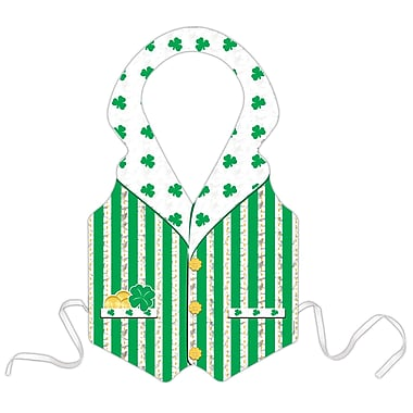Beistle Prismatic St Patrick Vest, Full size, 4/Pack