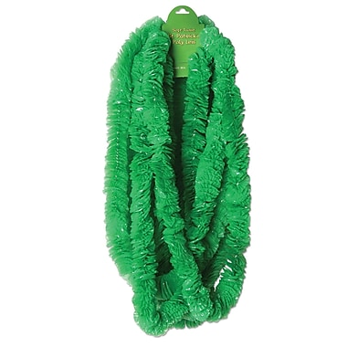 Beistle Soft-Twist St Patrick's Poly Leis, Green, 1 1/2