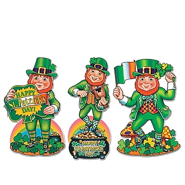 Beistle Packaged St Patrick's Day Cutouts, 18