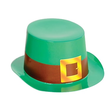 Beistle Mini Green Plastic Topper With Buckle, 4-3/4