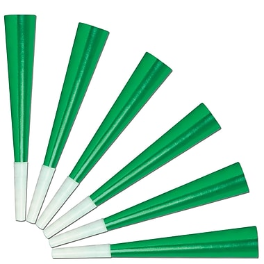 Beistle Green Foil Party Horns, 9