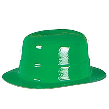 Beistle – Chapeau melon en plastique vert miniature, 4 3/4 x 2 po, paquet de 13