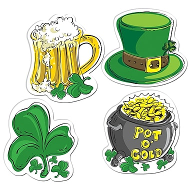 Beistle Packaged St Patrick's Day Cutouts, 16