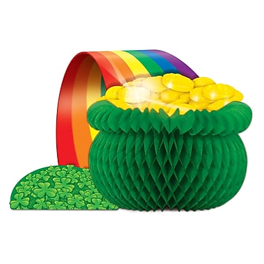 Beistle Pot-O-Gold Centerpiece, 12 1/2