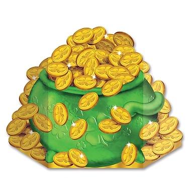 Beistle – Décoration sur pied « Marmite d'or », 3 1/2 x 24 1/2 po, paquet de 2