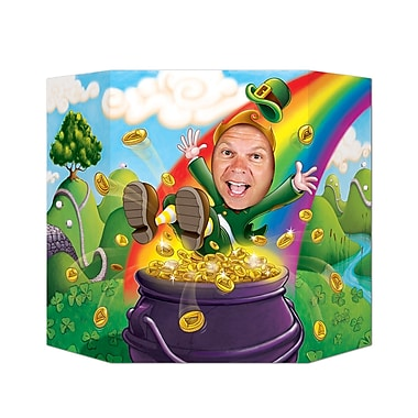 Beistle – Accessoire photo « Leprechaun », 3 pi 1 po x 25 po, paquet de 2