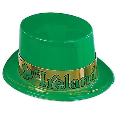 Beistle – Chapeau haut de forme irlandais en plastique avec bande, paquet de 7