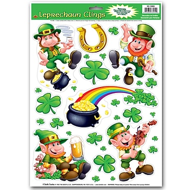 Beistle Leprechaun/Shamrock Clings, 12