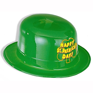 Beistle – Chapeau melon en plastique Happy Patrick's Day! Chapeau melon, paquet de 25