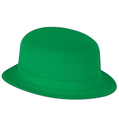 Beistle – Chapeau melon en velours vert, paquet de 5