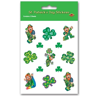 Beistle Leprechaun Stickers, 4 3/4