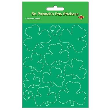 Beistle – Autocollants de trèfles, 4 3/4 x 7 1/2 po, paquet de 16