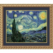 "Amanti Art Vincent Van Gogh ""The Starry Night"" Framed Print Art, 25 1/2"" x 31 1/2"""