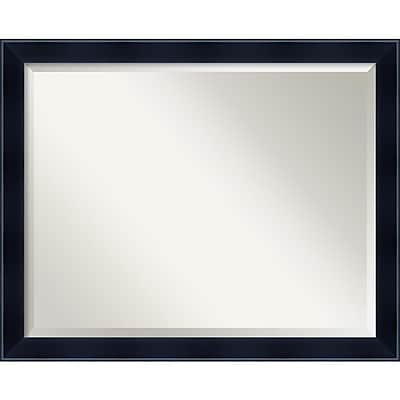 "Amanti Art 30.13"" x 24.13"" Madison Large Wall Mirror, Satin Black"