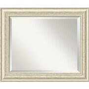 "Amanti Art 24.38"" x 20.38"" Country Medium Wall Mirror, Distressed Whitewash"