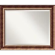 "Amanti Art 33 1/2"" x 27 1/2"" Manhattan Large Wall Mirror, Burnished Bronze"