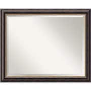 "Amanti Art 32"" x 26"" Tuscan Large Wall Mirror, Black"