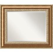 "Amanti Art 36 3/4"" x 30 3/4"" Vienna Large Wall Mirror, Burnished Bronze"