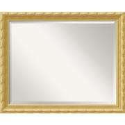 "Amanti Art 31.88"" x 25.88"" Versailles Large Wall Mirror, Antique Gold"