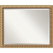 "Amanti Art 31 1/2"" x 25 1/2"" Florentine Large Wall Mirror, Antique Gold"