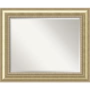 "Amanti Art 34 3/4"" x 28 3/4"" Astoria Large Wall Mirror, Burnished Champagne"
