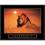 "Amanti Art ""Leadership Lion"" Framed Print Art, 23"" x 29"""