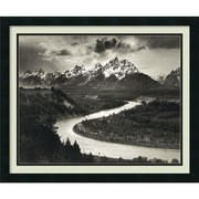 "Amanti Art Ansel ""The Tetons and the Snake River, Grand Teton N..."" Framed Print Art, 22"" x 26"""