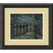 "Amanti Art Vincent Van Gogh ""Starlight Over the Rhone"" Framed Print Art, 14.12"" x 16.12"""