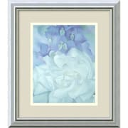 "Amanti Art Georgia O'Keeffe ""White Rose With Larkspur No.2"" Framed Print Art, 16"" x 14"""
