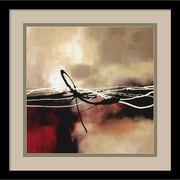 "Amanti Art Laurie Maitland ""Symphony in Red and Khaki II"" Framed Art, 15.38"" x 15.38"""