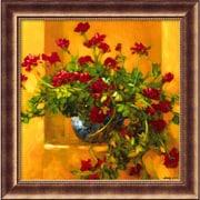 "Amanti Art Philip Craig ""Ivy Geraniums"" Framed Print Art, 29 1/2"" x 29 1/2"""
