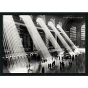"Amanti Art Hulton ""Grand Central Station, New York, 1934"" Framed Print Art, 25.38"" x 37.38"""