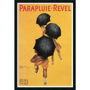 "Amanti Art Leonetto Cappiello ""Parapluie-Revel(ca. 1922)"" Framed Print Art, 37.38"" x 25.38"""