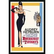 "Amanti Art ""Audrey Hepburn - Breakfast at Tiffany's"" Framed Print Art, 37.38"" x 25.38"""