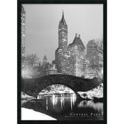"Amanti Art ""Central Park"" Framed Print Art, 37.38"" x 25.38"""