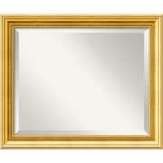 "Amanti Art 23.38"" x 19.38"" Townhouse Medium Wall Mirror, Gold"