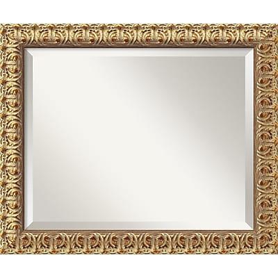 """""Amanti Art 23 1/2"""""""" x 19 1/2"""""""" Florentine Medium Wall Mirror, Antique Gold"""""" 967011"