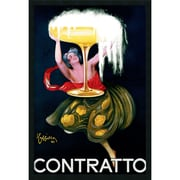 "Amanti Art Leonetto Cappiello ""Contratto(ca.1922)"" Framed Print Art, 37.38"" x 25.38"""