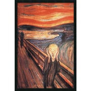 "Amanti Art Edvard Munch ""The Scream, 1893"" Framed Art, 37.38"" x 25.38"""