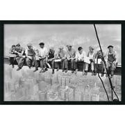 "Amanti Art Charles C. Ebbets ""Lunch on a Skyscraper, 1932"" Framed Print Art, 25.38"" x 37.38"""