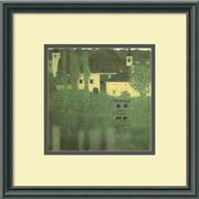 "Amanti Art Gustav Klimt ""Schloss Unterach On The Attersee"" Framed Print Art, 15 1/2"" x 15 1/2"""