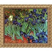 "Amanti Art Vincent Van Gogh ""Irises In The Garden"" Framed Art, 19 1/2"" x 23 1/2"""