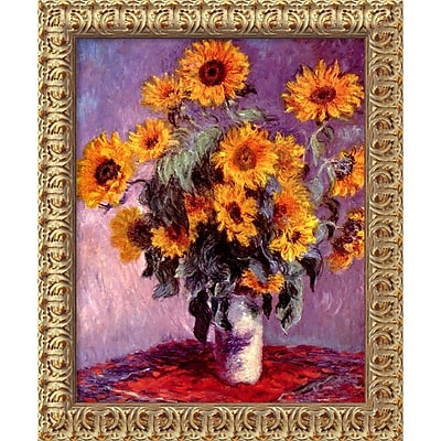 """""Amanti Art Claude Monet """"""""Sunflowers, 1881"""""""" Framed Art, 23 1/2"""""""" x 19 1/2"""""""""""""" 966003"