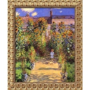"Amanti Art Claude Monet ""The Artist's Garden at Vetheuil, 1880"" Framed Art, 23 1/2"" x 19 1/2"""
