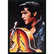 "Amanti Art ""Elvis - The King of Rock n Roll"" Framed Print Art, 37.38"" x 25.38"""