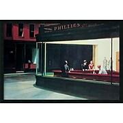 """Amanti Art Edward Hopper """"Nighthawks, 1942"""" Framed Art, 25.38"""" x 37.38"""""""